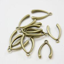 2 Pieces Oxidized Silver Plated Brass Base Charms-Wish Bone 17x9mm 8330Z-U-368