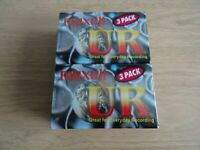 6 x Maxell UR90 90 Minutes Blank Audio Media Recording Cassette Tapes New Sealed