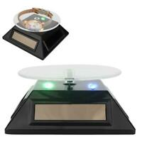 Rotating Display Stand Turntable Rotary Solar Powered Jewelry Holder Rack