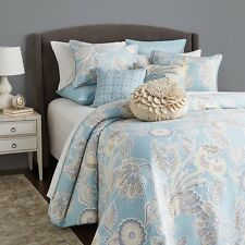 Sky Portia Collection TWIN Duvet Cover & Pillow sham Set Blue A638