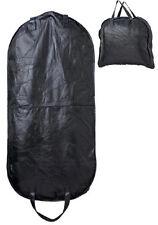 "46"" Embassy Black Genuine Buffalo Leather Travel Suit Storage Garment Bag"