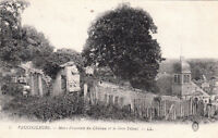 VAUCOULEURS 5 murs d'enceinte du château gros tilleul écrite 1916