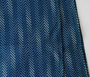 Vintage 1800s Discharge Printed Indigo Dark Blue Quilt Yardage Workwear 2.8 yds