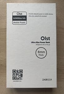 Ultra Slim Portable Power Bank 6000 mAh