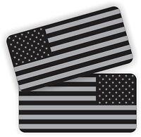 (2) American Flags Black Ops Hard Hat Stickers  Welding Helmet Decals  Welder