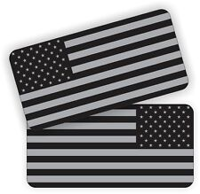 (2) American Flag Black Ops Hard Hat Stickers | Motorcycle Helmet Decals | USA