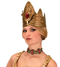 Royal Crown Queen Gold Jewels Princess Adult Halloween Medieval Costume Hat