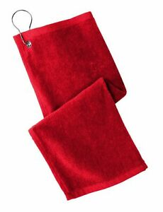 NEW Golf Towel Grommeted 100% Cotton Terry Velour 11 x 18 PT400