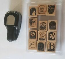 Stampin Up Punch and stamp bundle.wood mound tag punch. # 18