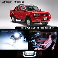5PCS Cool White Interior LED Bulbs Package Kit for 2005 - 2016 Nissan Frontier