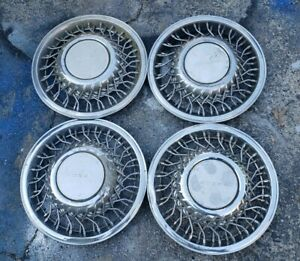 "Set of 4 OEM 1991-93 Dodge Dynasty Caravan LE 14"" Wire Spoke Hubcap Wheel Covers"