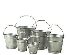 20cm Zinc Bucket/Metal/Tin/Container/Storage/Flower Pot/Planter/Home/Garden