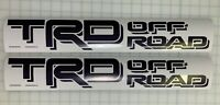 2X TRD 2016-19 OFFROAD Toyota Tacoma Tundra bedside decal sticker - Black