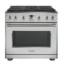 "Monogram Professional 36"" Dual Fuel Range with 6 Burners Zdp366Nnss"