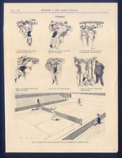"Tennis - Wimbledon - Karikatur aus ""Punch"", 1936"
