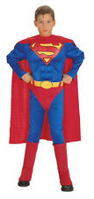 Children Boys Superman Muscle Chest Costume 10-12 Husky