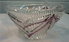 TIARA MERCEDES CONSOLE BOWL LEAD CRYSTAL RUBY GERMANY