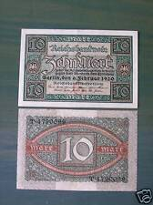 Reichsbanknote 10 Mark, 1920