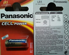 1 Pila Alcalina LR1 1,5v PANASONIC Cell Power,R1,E90,AM5,910A,MN9100,LADY,N,4901