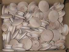 """500 ROUND 1 1/2"""" BIRCH WOOD KNOBS*NEW*Unfinished Pulls Cabinet Handles w/ screws"""
