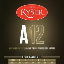 New Kyser A12 Light/Medium Acoustic Guitar Strings - 92/8 Phosphor Bronze, KA3
