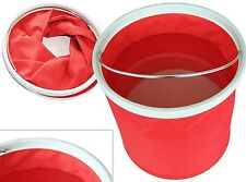 11L Collapsible Bucket Multifunctional Folding Bucket for Hiking Fishing Red