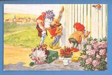 Happy Birthday GNOMES VINTAGE POSTCARD 916