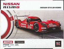 NISSAN GTR LM NISMO WEC LE MANS 2015 LMP1 PROMO RACE CARD PHOTOGRAPH BROCHURE