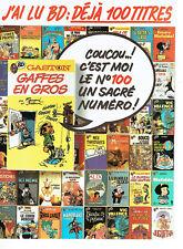 Publicité Advertising 1988  078   éditions J'ai Lu   Gaston Lagaffe