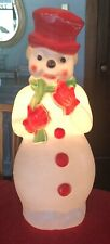 22� Blow Mold Red Hat Frosty Snowman 1973 Light-up Carolina Enterprise Christmas