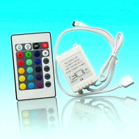 24 Key Mini IR Remote Controller For RGB 3528 and 5050 LED Light Strip 12V·Nice