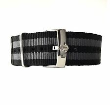 20mm Black Grey Bond NATO ® Strap & Rolex Buckle