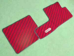 Nissan Sunny B12 floor mat genuine red red old car  JDM From Japan F/S