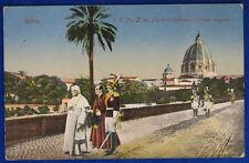 SUA SANTITA' PAPA PIO X nei giardini Vaticani viaggiata anni 10  #19669