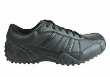 NEW SKECHERS MENS RELAXED FIT ELSTON LACE UP SLIP RESISTANT MEMORY FOAM WORK SHO