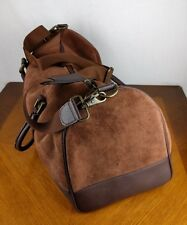 2003 Marlboro Leather Bag Overnight Carry Luggage Duffle Suede Tobacco Smoke