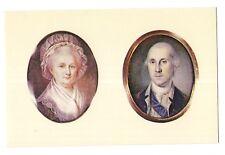 Mini Portraits George Martha Washington PEALE Mount Vernon Virginia Postcard VA