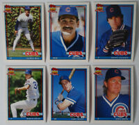 1991 Topps Traded Chicago Cubs Team Set of 6 Baseball Cards