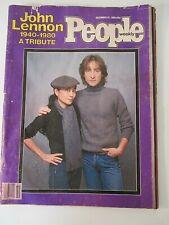 John Lennon , December 22,1980, People Magazine,Tribute Edition