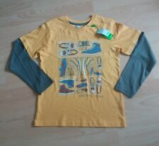 boys age 8-9 years yellow M&Co trainer long sleeved t-shirt