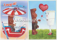 Alle 2 Postkarten Kinder Riegel OKTOBERFEST nagelneu & unbenutzt!!!