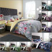 LIVIA FLOWER DUVET COVER PILLOW CASE Floral Bedding Set Ultra Soft Quilt Covers