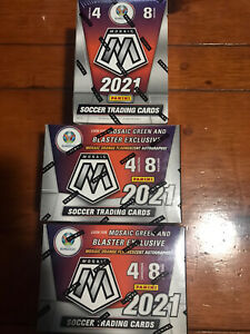 Lot Of 3 of 2021 MOSAIC Euro soccer. New In Hand Factory Sealed!!
