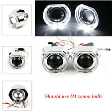 "2.5"" LED Angel Eye HID Bi-Xenon Projector Red Devil Demon Eye Clear Cut-Off Line"