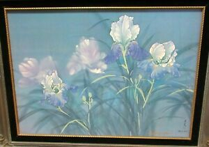 DAVID LEE HAND SIGNED IN INK GICLEE ON CANVAS FLORAL PAINTING