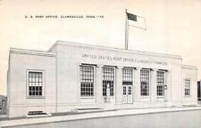 CLARKSVILLE, TN Tennessee  US POST OFFICE  Montgomery Co  c1940's Linen Postcard