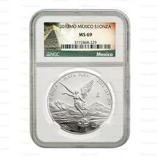 New 2013 Mexican Silver Libertad 1oz NGC MS69 Graded Silver Coin
