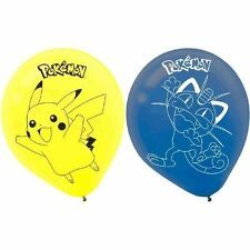"Pokemon Pikachu and Friends Meowth Birthday Party 6 Ct Balloons 12"" Helium"