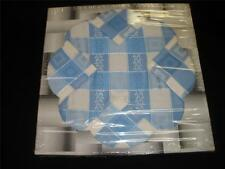 FABULOUS RETRO SPUN RAYON TABLE/PICNIC SET BLUE AND WHITE CLOTH 4 NAPKINS JAPAN