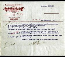 "MELUN (77) EPICERIE ""André HARDY"" en 1924"
